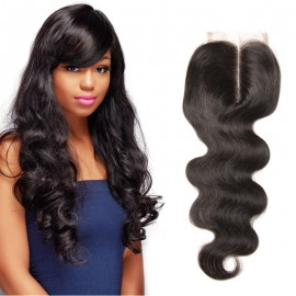 UNice 3 Bundles Brazilian Body Wave With Lace Closure