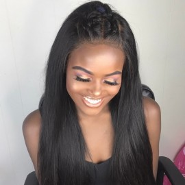 UNice Malaysian Straight Virgin Hair With 3 Part Lace Closure