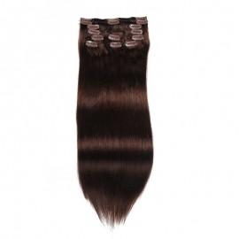 UNice 100g Dark Brown Clip In Hair Extensions