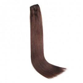 UNice 100g #2 Dark Brown Clip In Hair Extensions Virgin Hair 8Pcs/set