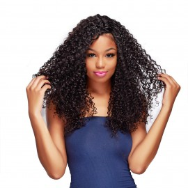 Virgin Jerry Curly Hair With Lace Closure