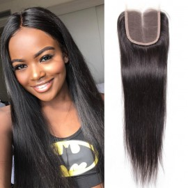 UNice 3 Bundles Brazilian Virgin Hair Straight With Closure