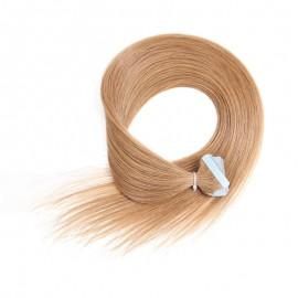 UNice 20pcs 50g Straight Tape In Hair Extensions #12 Light Brown 100% Virgin Hair