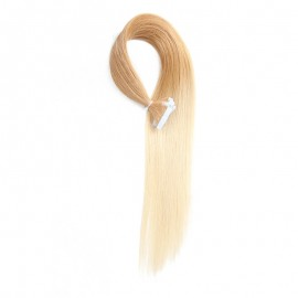 UNice 20pcs 50g Omber Straight Tape In Hair Extensions T27-613 100% Virgin Hair