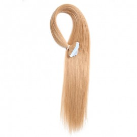 UNice 20pcs 50g Straight Tape In Hair Extensions #27 Strawberry Blonde 100% Virgin Hair