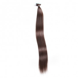 UNice 20pcs 50g Straight Tape In Hair Extensions #2 Dark Brown