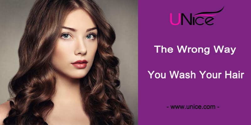 The wrong way you wash your hair