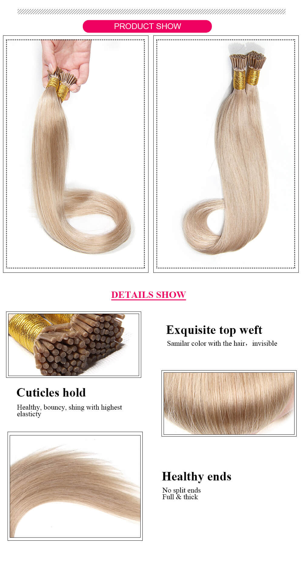i tip Straight hair product details