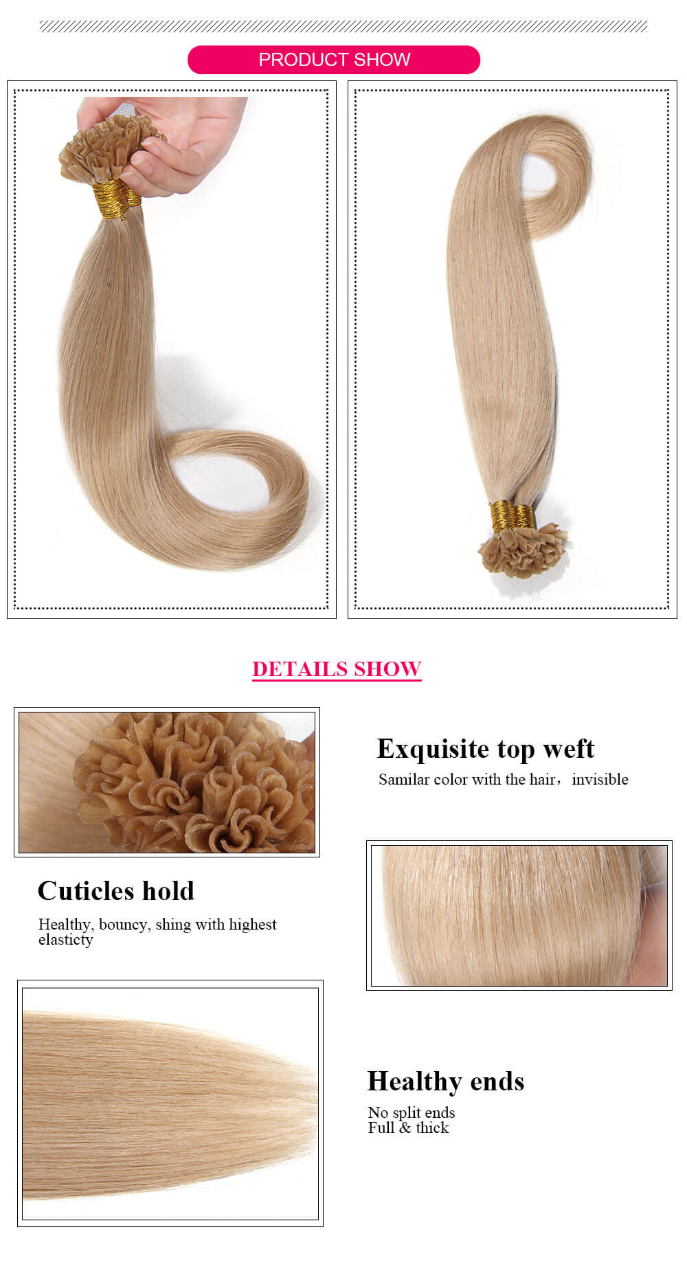 U Tip hair product details