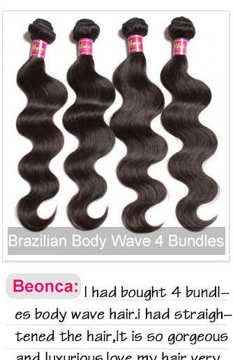 brazilian body wave 4pcs