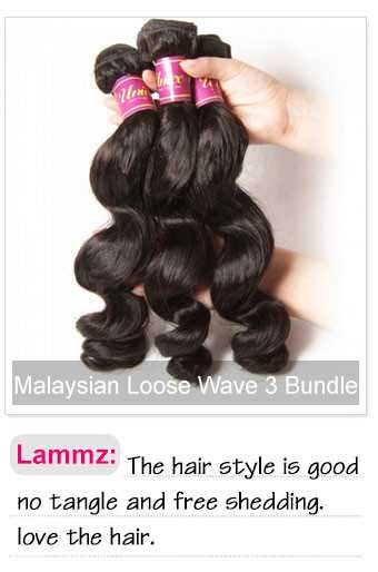 Malaysian loose wave 3 pcs