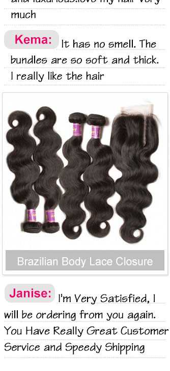 4pcs brazilian body wave with lace closure