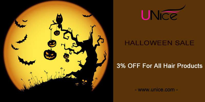 Halloween SALE: 3% OFF For All Hair Extensions And Wigs