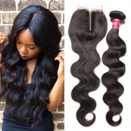 indian body wave with lace closure