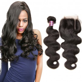 body wave 4bundles lace closure