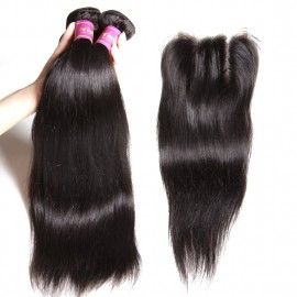 malaysian human straight with closure