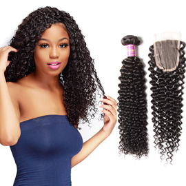 brazilian curly hair with closure