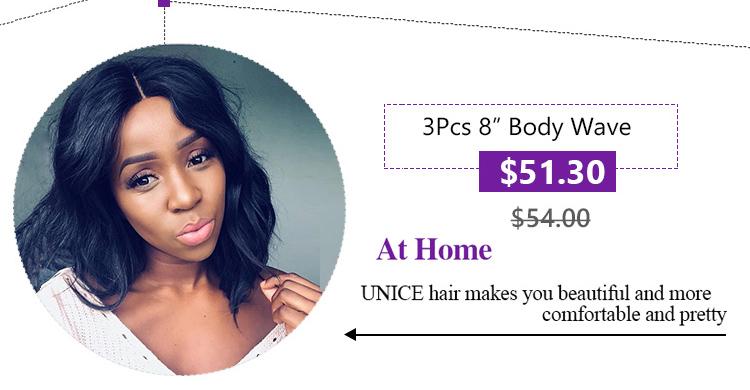 UNice Hair Kysiss Series 8A Grade Brazilian Body Wave 3 pcs Human Hair Extension